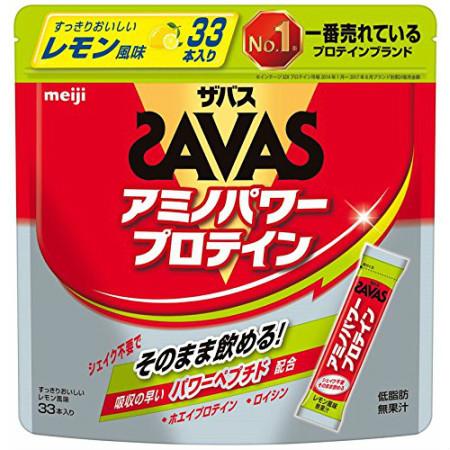 明治 ザバス アミノパワープロテイン レモン風味 4.2g×33本 【7個セット】【お取り寄せ】(4902777301501-7)