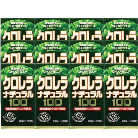 クロレラナチュラル100 1400粒 【12個セット】【お取り寄せ】(4524326200600-12)