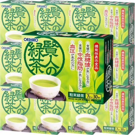 オリヒロ 【機能性表示】 賢人の緑茶 30本 【10箱セット】(4571157252148-10)