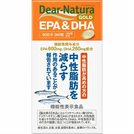 アサヒフードアンドヘルスケア ディアナチュラゴールド EPA&DHA 360粒【5個セット】【お取り寄せ】(4946842639021-5)