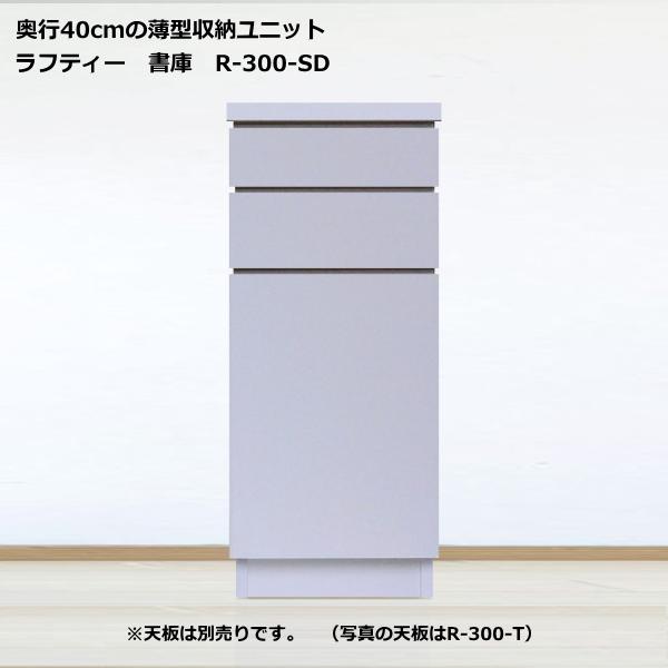 薄型収納ユニット ラフティー・シリーズ書庫 30cm幅 R-300-SD奥行40cmタイプ 【smtb-k】【w4】