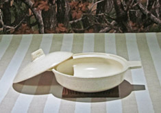 キャセロール マイン「白」(1~2人用) 土鍋で野菜ソテー グラタン ベーコンエッグ  一人暮らしに