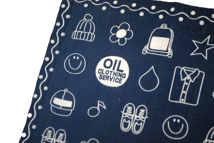 OIL bandana 6 color handkerchief and even home economics bandana and Pack lunch!