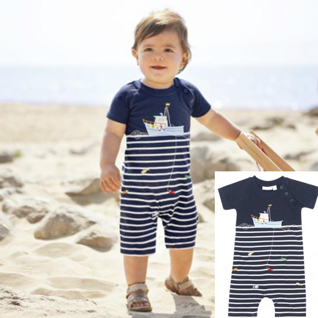 Jojo Maman Fishing Baby Romper