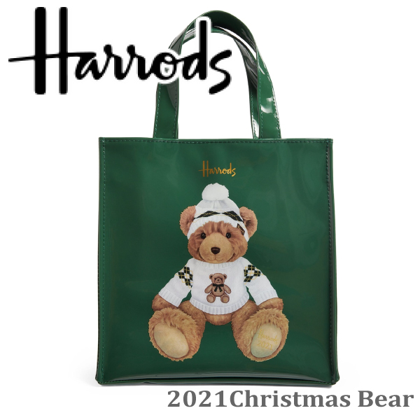 HARRODS Harrods genuine tote bag 30th Anniversary Christmas Bear, M size A4, Harrods Medium