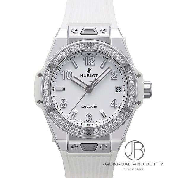 ウブロ HUBLOT ビッグバン ワンクリック スチールホワイトダイヤモンド 465.SE.2010.RW.1204 新品 時計 レディース
