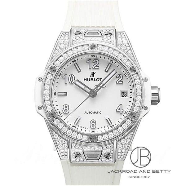 ウブロ HUBLOT ビッグバン ワンクリック スチールホワイトダイヤモンド 465.SE.2010.RW.1604 新品 時計 レディース