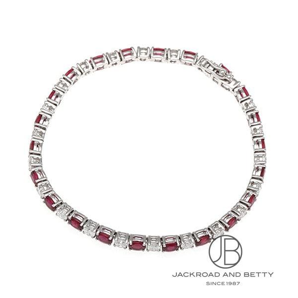 ノーブランド No Brand ルビー ダイヤモンド ブレスレット 187231/4WNB33 R4.43ct D2.48ct 新品 ジュエリー ブランドジュエリー