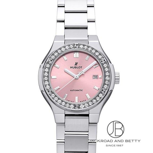 ウブロ HUBLOT クラシックフュージョン チタニウム ピンク ダイヤモンド ブレスレット 585.NX.891P.NX.1204 新品 時計 レディース