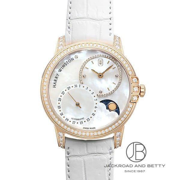 ハリー・ウィンストン HARRY WINSTON ミッドナイト ビッグデイト ムーンフェイズ MIDAMP36RR001 新品 時計 レディース