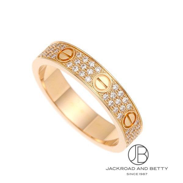 カルティエ CARTIER ミニラブリング パヴェダイヤモンド #51 11号 B4085851 新品 ジュエリー ブランドジュエリー