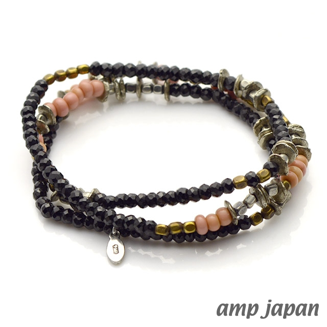 アンプジャパン【amp japan】ナイトブラック ブレスレット