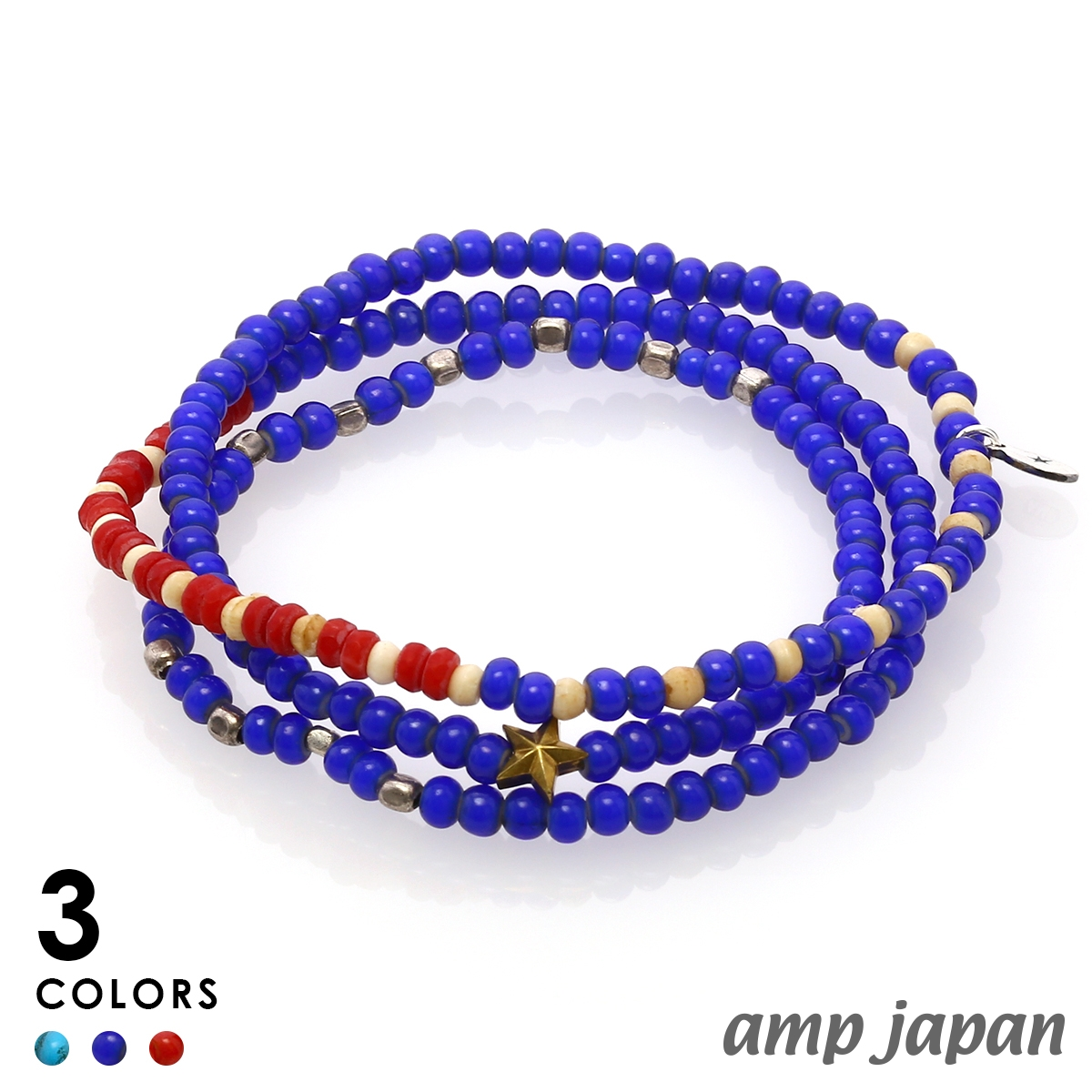 アンプジャパン【amp japan】Vintage White Hearts ヴィンテージ ホワイトハート ネックレス - U.S.A.