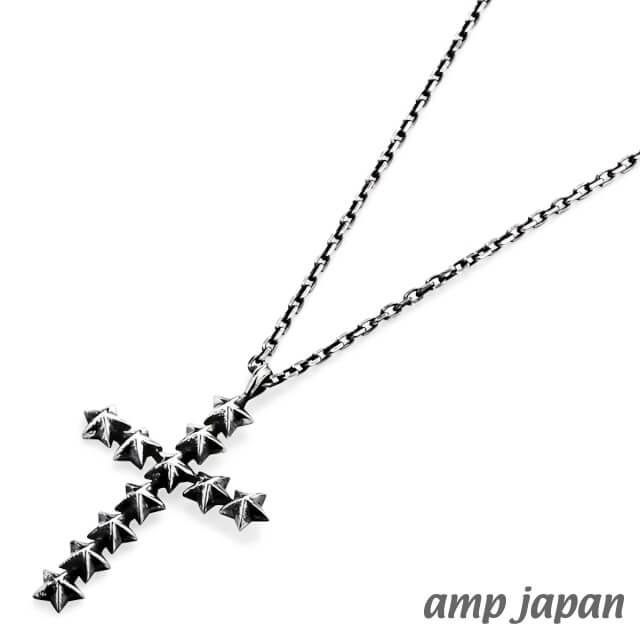 アンプジャパン【amp japan】スタースタッズラージクロスネックレス