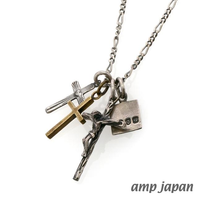 アンプジャパン amp japan スモール ジーザス ペンダント シルバークロス ブラスクロスKT1cFJul3