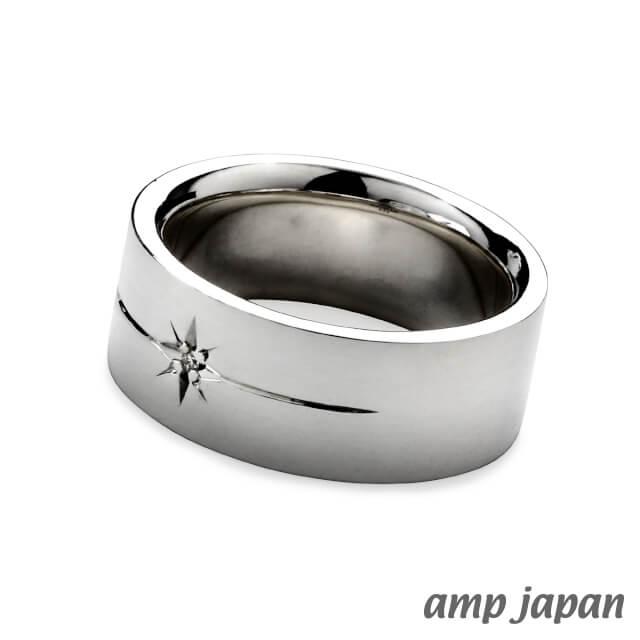 アンプジャパン【amp japan】フラットダイアモンドリング