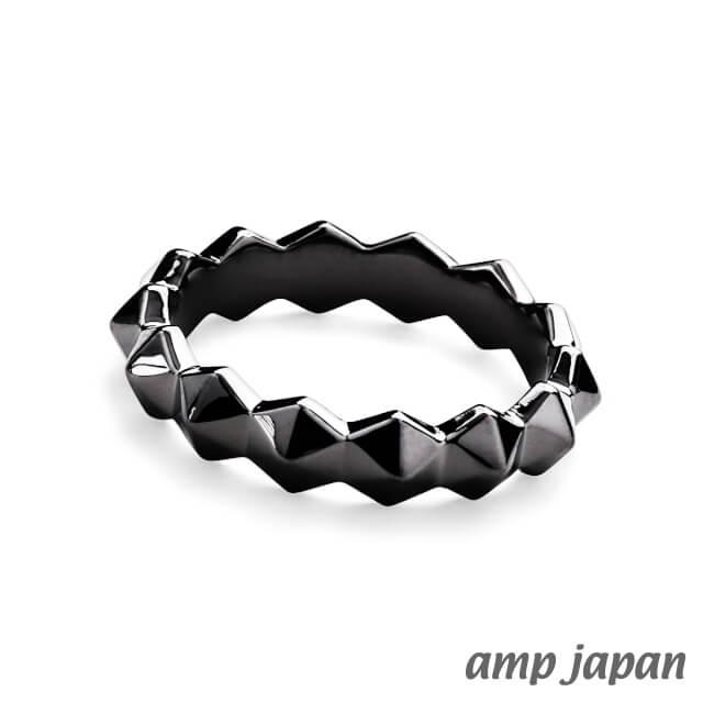 アンプジャパン【amp japan】ヘキサゴンスパイクリング - ブラック