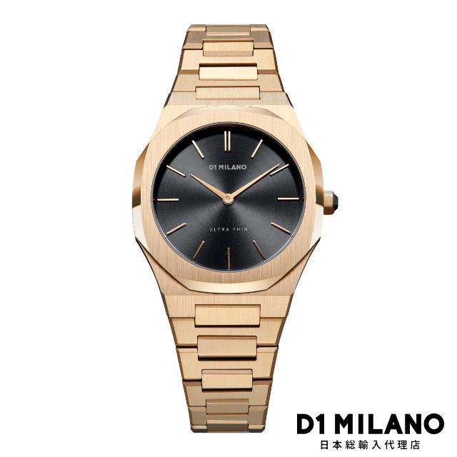 D1ミラノ 日本総輸入代理店 腕時計 メンズ レディース ULTRA THIN 34mm - GOLD NIGHT(ゴールドナイト)