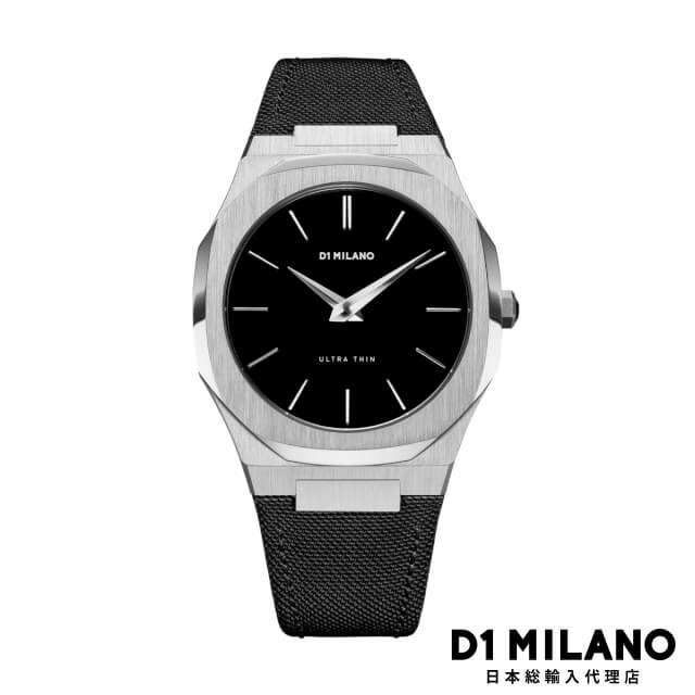 D1ミラノ 日本総輸入代理店 腕時計 メンズ 時計 D1 MILANO Ultra Thin Silver Case Nylon Strap