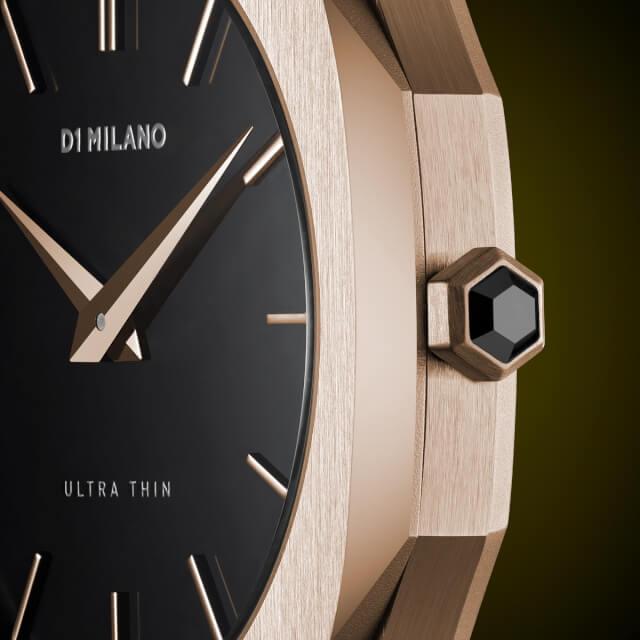 D1ミラノ 日本総輸入代理店 腕時計 メンズ 時計 D1 MILANO Ultra Thin Rose Gold Case Nylon Strap