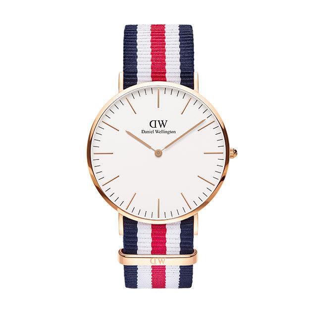ダニエルウェリントン 40mm Daniel Wellington カンタベリー ローズ メンズ  腕時計