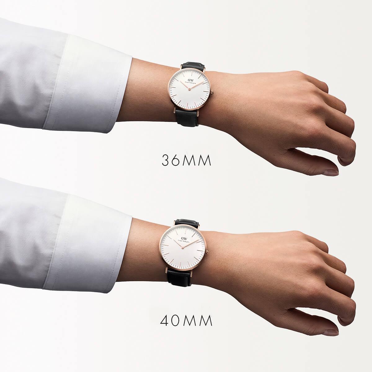 ダニエルウェリントン 40mm Daniel Wellington シェフィールド ローズ メンズ 腕時計