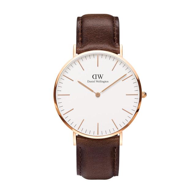 ダニエルウェリントン 40mm Daniel Wellington ブリストル ローズ メンズ 腕時計