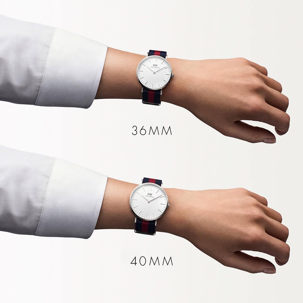 ダニエルウェリントン 40mm Daniel Wellington オックスフォード シルバー メンズ 腕時計