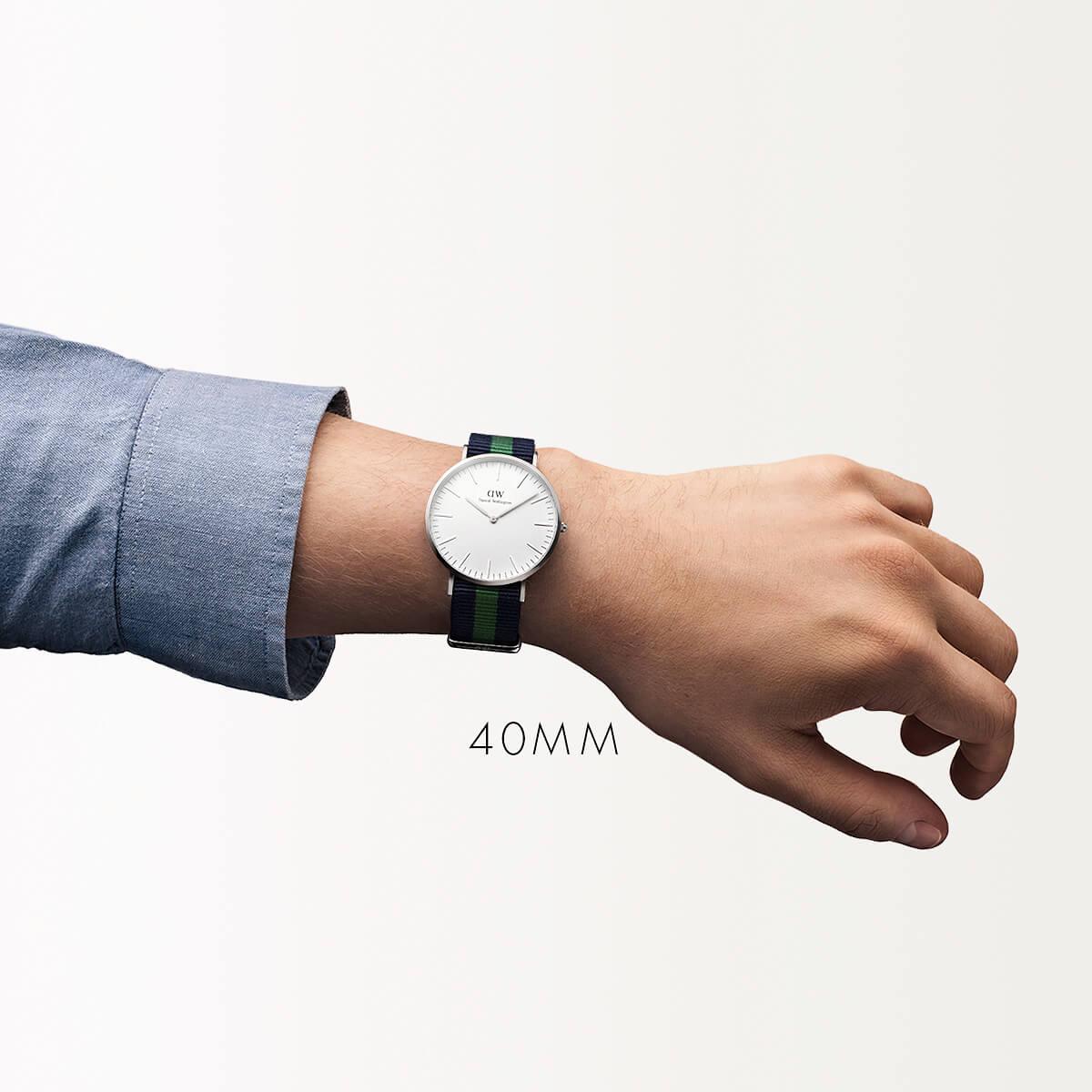 ダニエルウェリントン 40mm Daniel Wellington ウォリック シルバー メンズ 腕時計
