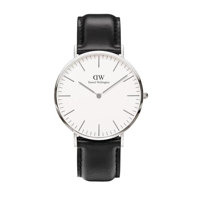 ダニエルウェリントン 40mm Daniel Wellington シェフィールド シルバー メンズ 腕時計
