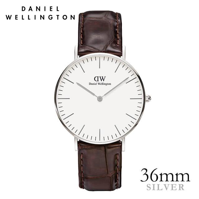 ダニエルウェリントン 36mm Daniel Wellington ヨーク シルバー メンズ レディース 腕時計