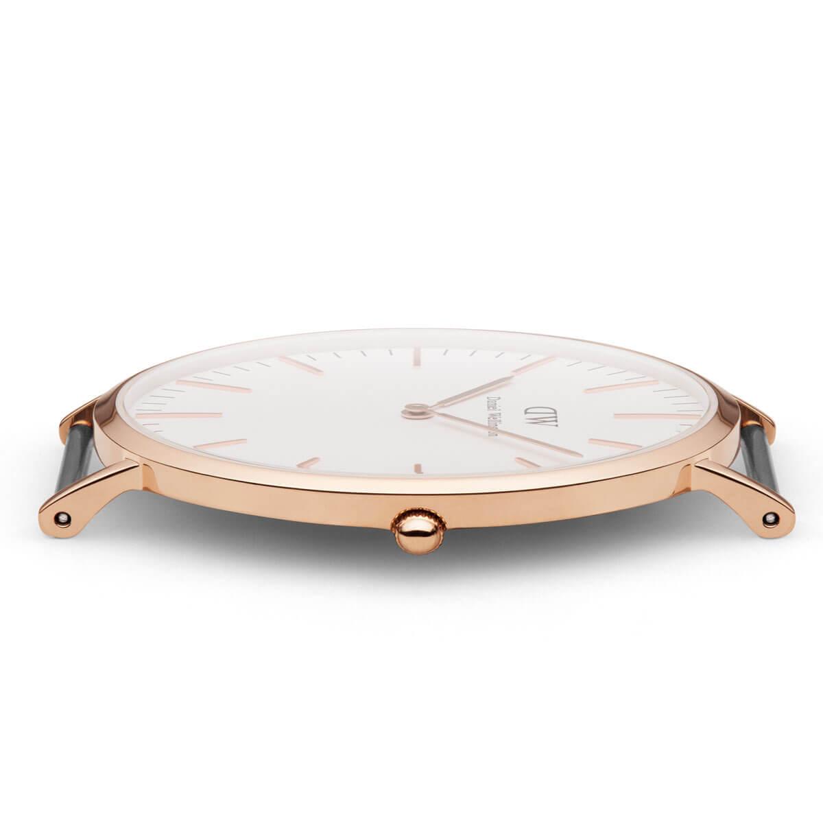 ダニエルウェリントン 40mm Daniel Wellington グラスゴー ローズ メンズ 腕時計