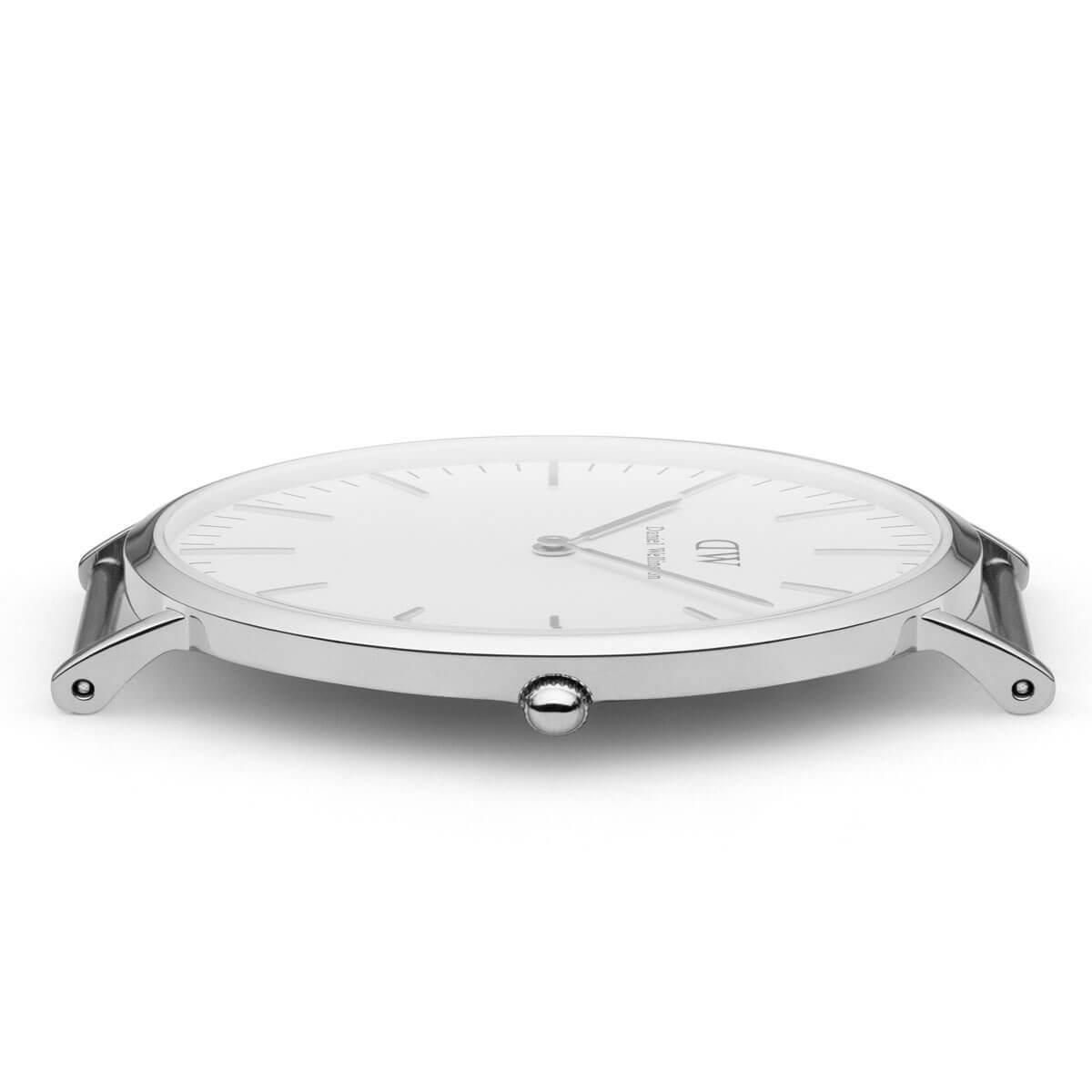 ダニエルウェリントン 40mm Daniel Wellington カンタベリー シルバー メンズ 腕時計
