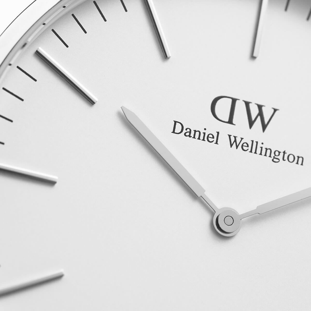ダニエルウェリントン 40mm Daniel Wellington ブリストル シルバー メンズ  腕時計