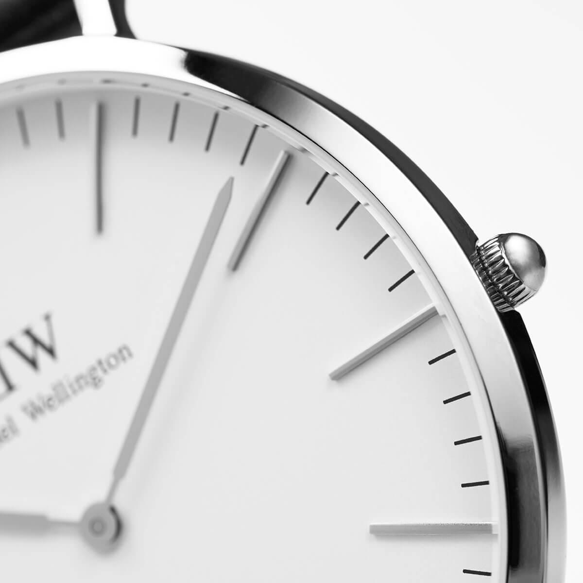 ダニエルウェリントン 40mm Daniel Wellington ヨーク シルバー メンズ 腕時計