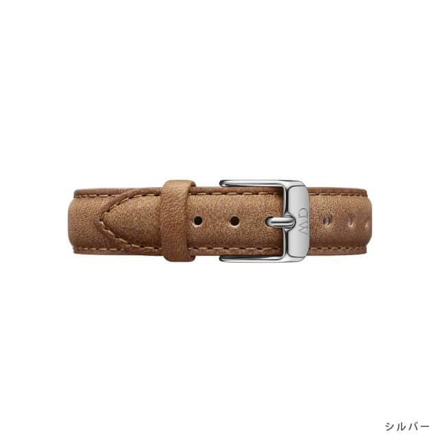 ダニエルウェリントン Daniel Wellington (クラシックペティット 32mm用 付け替えバンド 幅14mm) クラシックペティット レザーリストバンド ダラム/ローズゴールド シルバー 14mm