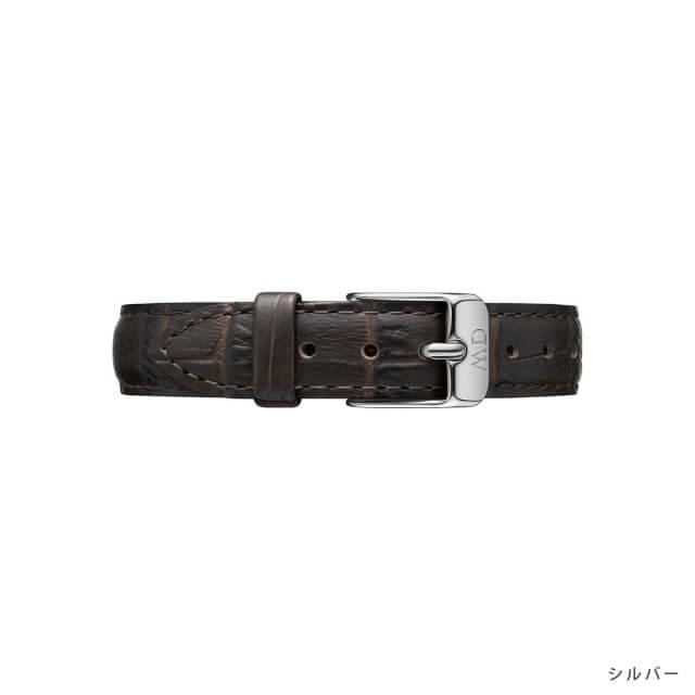 ダニエルウェリントン Daniel Wellington (クラシックペティット 28mm用 付け替えバンド 幅12mm) クラシックペティット レザーリストバンド ヨーク/ローズゴールド シルバー 12mm