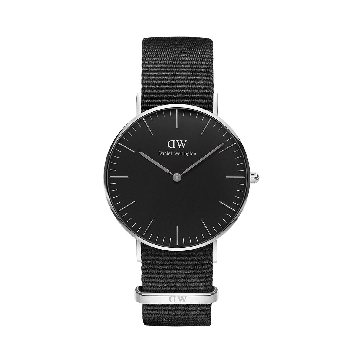 ダニエルウェリントン 36mm Daniel Wellington クラシックブラック コーンウォール シルバー 腕時計