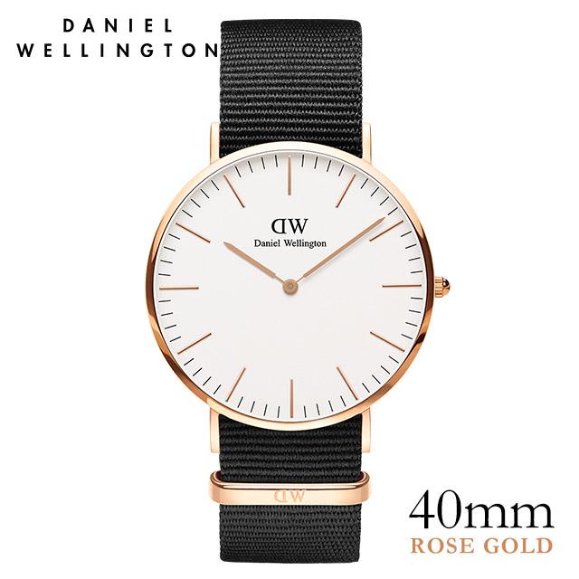 ダニエルウェリントン 40mm Daniel Wellington クラシック コーンウォール ローズゴールド