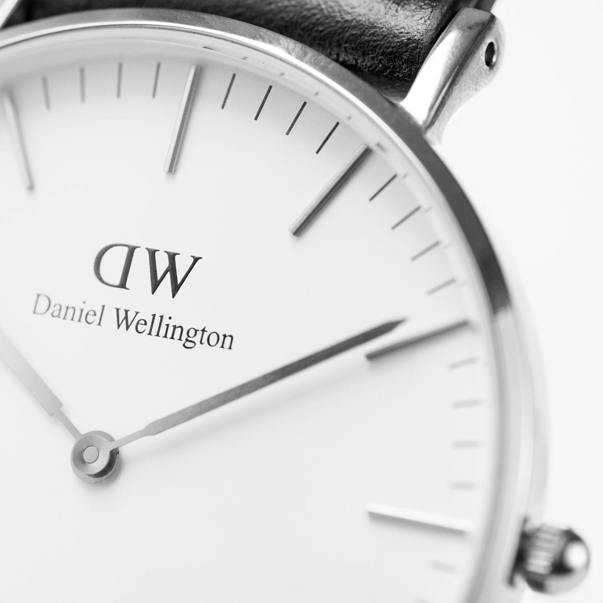 ダニエルウェリントン 40mm Daniel Wellington クラシック コーンウォール シルバー