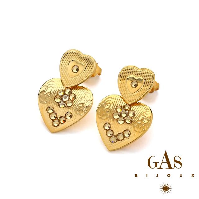 ガスビジュー【Gas Bijoux】ピアス ハート レディース アクセサリー - Earring : Love / mini / o