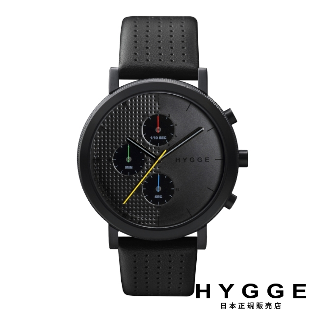 ヒュッケ 腕時計 HYGGE 2004 レザー ブラックダイヤル ブラックケース 2204 LEATHER BLACK DIAL BLACK CASE