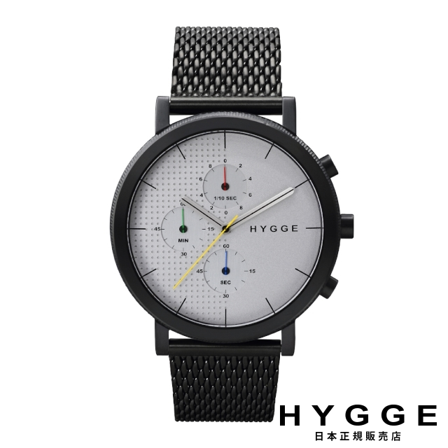 ヒュッケ 腕時計 HYGGE 2004 メッシュ ホワイトダイヤル 2204 MESH WHITE DIAL