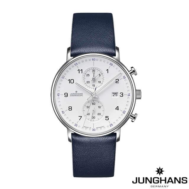 ユンハンス 腕時計 メンズ ウォッチ Junghans FORM C Chronoscope WH/DL