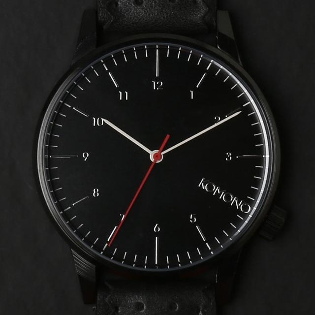KOMONO 時計 コモノ ウィンストンブローグ ジェットブラック [WINSTON BROGUE - JET BLACK]
