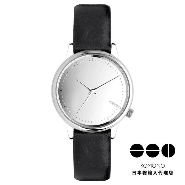 KOMONO 時計 コモノ エステル ミラー シルバー ブラック [Watch : ESTELLE MIRROR SILVER/BLACK]