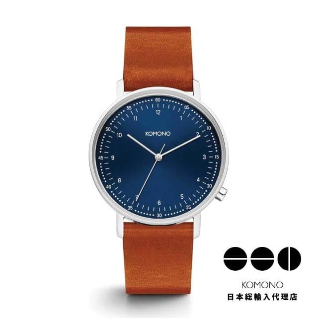KOMONO 腕時計 ルイス ブルー コニャック [LEWIS BLUE COGNAC]