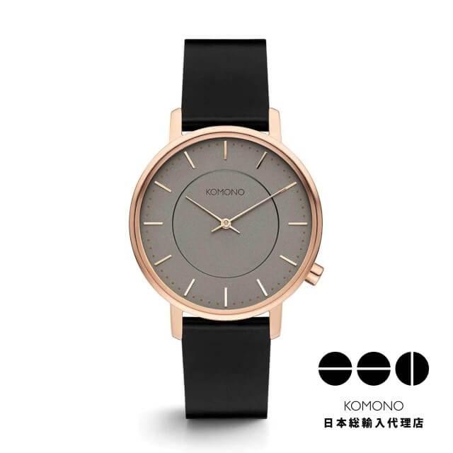KOMONO 腕時計 ハーロウ ブラック ローズ [HARLOW BLACK ROSE]