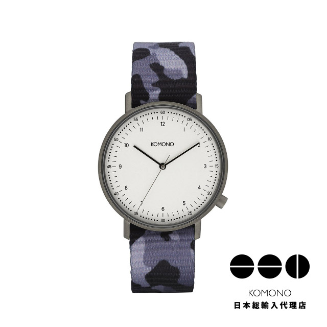 KOMONO コモノ 腕時計 ルイス カモ シャドウ ブラック [LEWIS CAMO SHADOW BLACK]