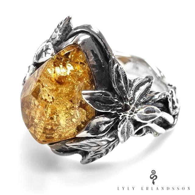リリー エルランドソン【LYLY ERLANDSSON】the ARIA -Gold Leaf-アリア リング / ゴールドリーフ